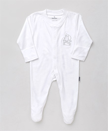 Child World Footed Romper Solid Color - Off White