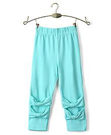 Ikat by Babyhug Solid Color Full Length Legging - Aqua