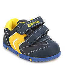 Doink Sport Shoes Dual Velcro Closure - Navy And Yellow