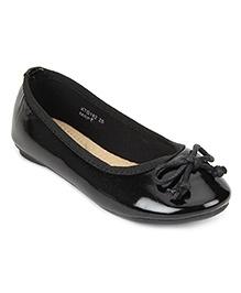 Kittens Slip On Bow Belly Shoes - Black