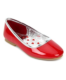 Kittens Party Wear Belly Sandals - Red