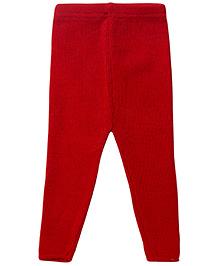 Babyhug Woolen Leggings - Red