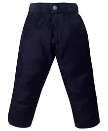 Babyhug Velvet Narrow Fit Trouser Party Wear - Navy Blue