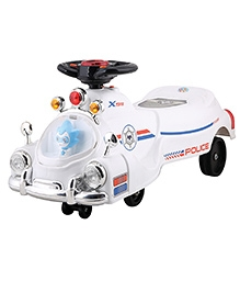 Toyhouse Police Swing Car - White