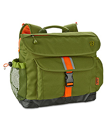 Signature Olive Green And Orange Bag
