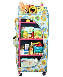 Mothertouch Dx Storage Unit With Wheels Alphabet Print