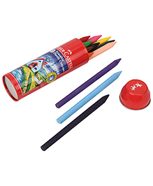 Faber Castell Erasable Crayons - Tin Pack Of 12