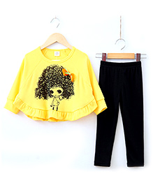 Lil Picks 2 Piece Top And Pant Set - Yellow And Black
