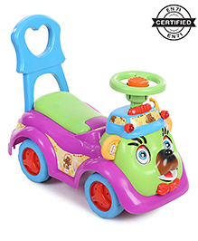 Babyhug Party Bear Ride-On - Violet &  Green