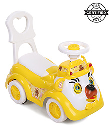 Babyhug Party Bear Ride-on - Yellow & White