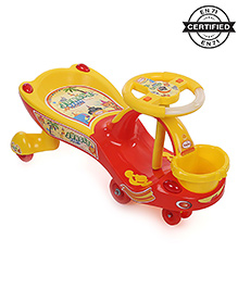 Babyhug Jungle Party Gyro Swing Car - Yellow
