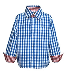Blue And White Checkmate Shirt