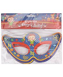 B Vishal Birthday Theme Eye Mask Pack Of 10 - Multi Color