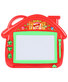 House Shape Magnetic Drawing Board With Pen - Red