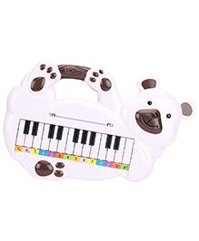 Bear Shape Musical Piano - White