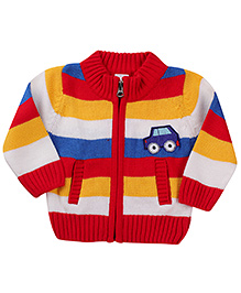 Babyhug Front Open Sweater Car Patch - Multicolor