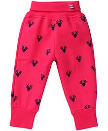 Little Kangaroo Full Length Thermal Leggings - Pink
