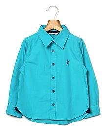 Beebay Full Sleeves Shirt B Logo Embroidery - Turquoise