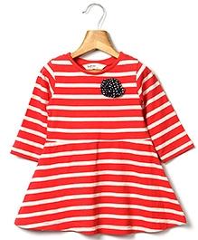 Beebay Striper Jersey Dress - Red