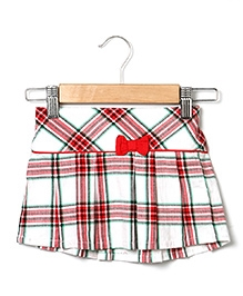 Beebay Bow Check Skirt - Red