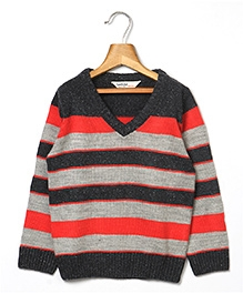 Beebay Stripper Sweater - Grey Red