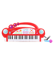 Electronics Keyboard With Microphone - Red