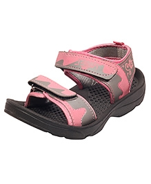 Myau Sandals Dual Velcro Closure - Grey Pink