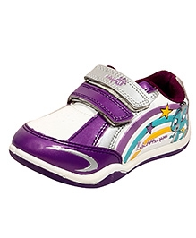 Myau Casual Shoes Dual Velcro Closure - Purple White