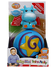 Cow Shape Roly Poly Musical Ball - Blue
