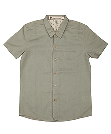 Khaki Half Sleeves Linen Shirt