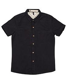 Navy Half Sleeves Linen Shirt