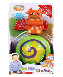 Cow Shape Roly Poly Musical Ball - Green Orange