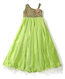 Twisha Indo Western Gown - Green