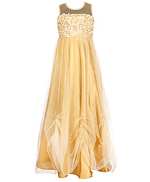 Twisha Indo Western Gown - Gold