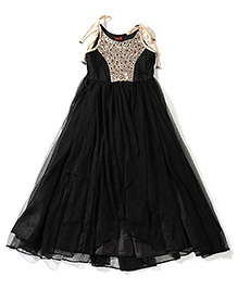Twisha Indo Western Gown - Black
