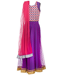 Twisha Navratri Ghagra Choli & Dupatta Set - Royal Blue