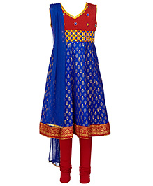 Twisha Kurta Leggings & Dupatta - Royal Blue