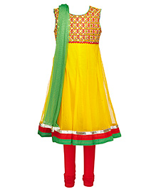 Twisha Kurta Leggings & Dupatta - Yellow