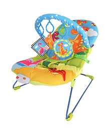 Luv Lap Baby Bouncer Little Dino Print Multi Colour - 18167