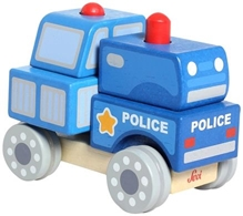 Sevi - Build Up Police Push and Pull Wooden Toy