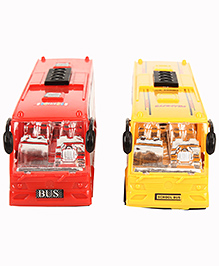 Toy Bus Set Of 2 - Yellow Red