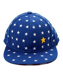 Little Cuddle Star Print Cotton Cap - Blue