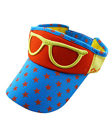 Little Cuddle Funky Glasses Sun Hat - Red & Yellow
