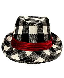 Little Cuddle Fedora Hat - Black & White