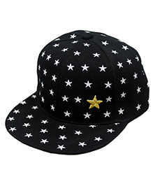 Star Cotton Cap - Black