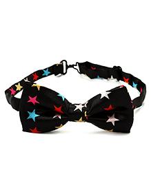 Little Cuddle Twinkling Stars Bow Tie - Black