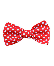 Little Cuddle Polka Dot Bow Tie - Red & White