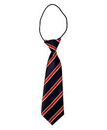 Little Cuddle Striped Print Tie - Blue & Red