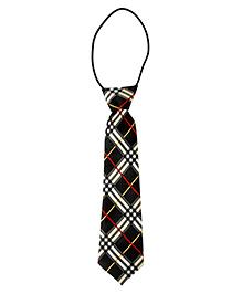 Little Cuddle Checkered Tie - Black & White