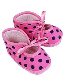 Morisons Baby Dreams Baby Booties Polka Dots - Pink